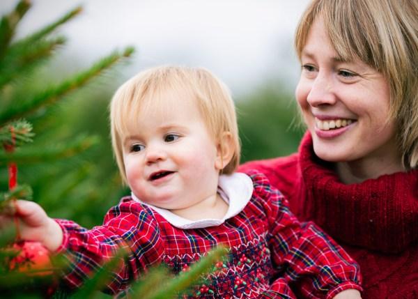magical Christmas Tree Farm photoshoots