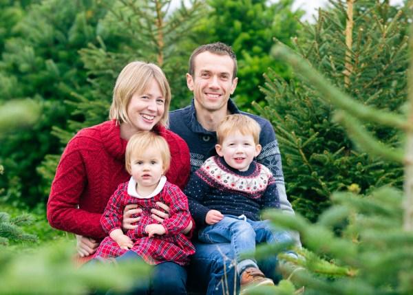Family Christmas Tree Farm photoshoot