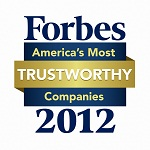 Forbes America's Most Trustworthy Companies 2012