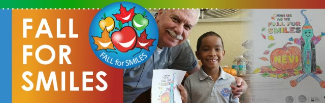 fall for smiles campaign image with man and child