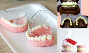 chocolate teeth using mouth molds
