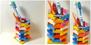 creative lego toothbrush holder