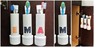 industrial pvc pipe toothbrush holder