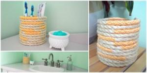 nautical rope toothbrush holder