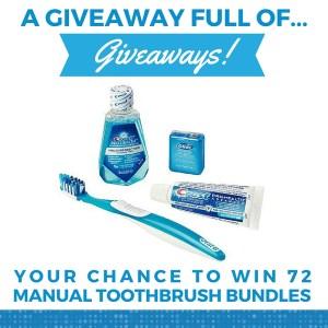giveaway of giveaways manual toothbrush bundle