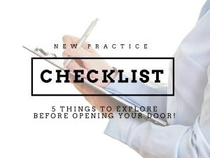 new dental practice checklist