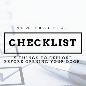 new practice checklist for dentists