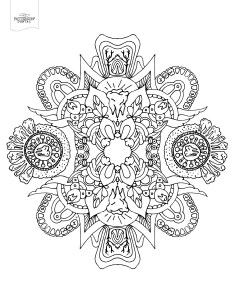 Abstract geometric teeth coloring page from Patterson Dental