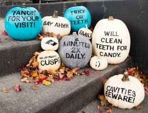 punny dental themed pumpkins