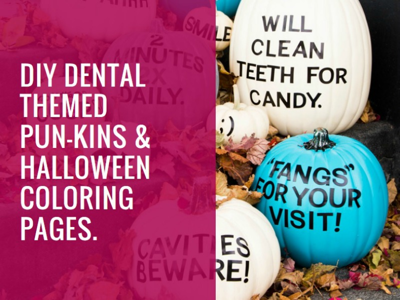 DIY Dental Themed  Pun kins    Off The Cusp diy dental themed pumpkins and halloween coloring pages