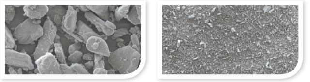 glycine powder compared to sodium bicarbonate powder