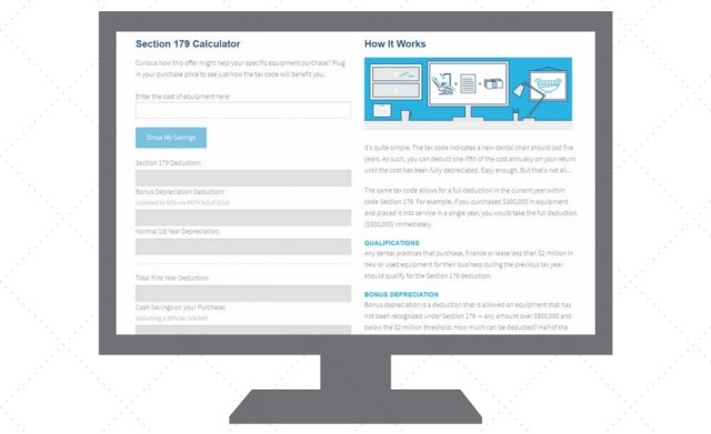 using the section 179 calculator