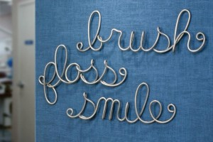 brush floss smile art