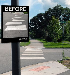creative dental marketing dental before and after street ad