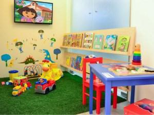 play area at pediatric dentist