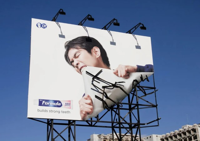 bent billboard, creative dental advertising