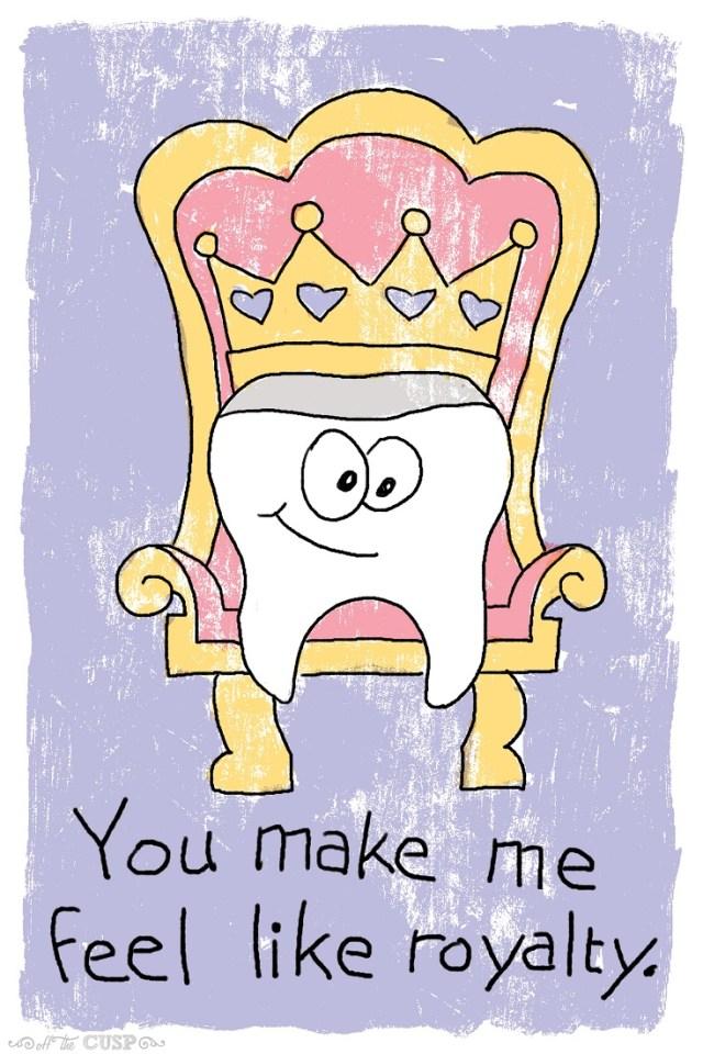 like royalty dental pun valentine