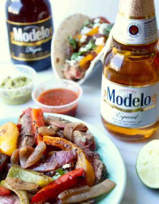 modelo marinated steak fajitas
