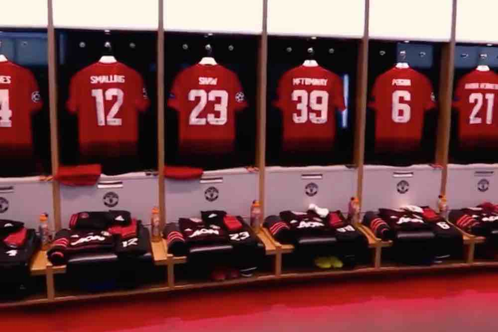 Photos Man Utd Shirts Hanging In The Dressing Room Ahead Of Psg Clash Off The Post