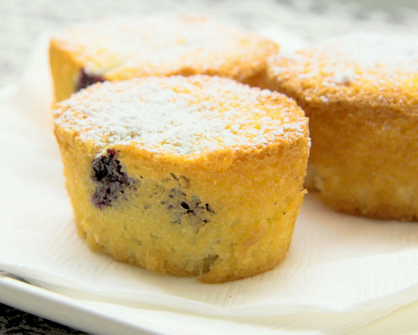 Berry and Coconut Friands