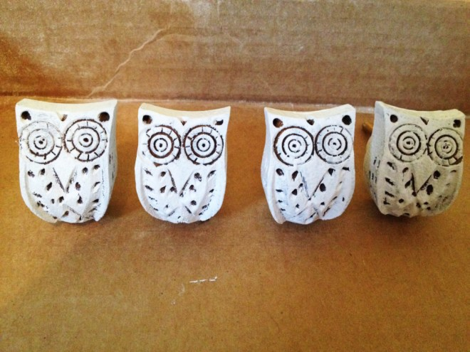 Painted Owl Knobs | www.ofhousesandtrees.com