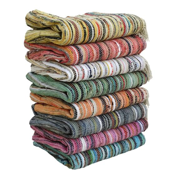Handmade items using recycled materials – like these rugs made from clothing scraps - are an excellent alternative to buying secondhand. It isn't always possible to buy used items - sometimes you can't find exactly what you need exactly when you need it. New or used - the most important thing is that you think before you buy.