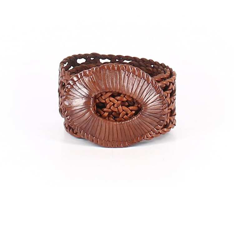 Create customized second hand Halloween costumes with items you can add to your regular wardrobe and wear again! Like this brown woven belt, which would be perfect for an elf costume.