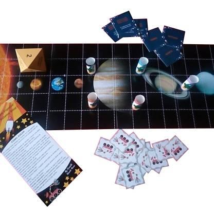 Jogo A Viagem Espacial sobre o sistema solar.