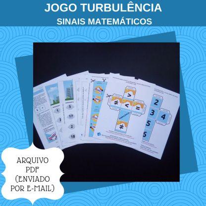 Jogo Turbulência com atividades de maior ou menor que para imprimir.