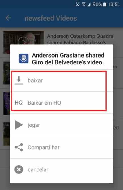 Como enviar vídeos do Facebook para o Whatsapp