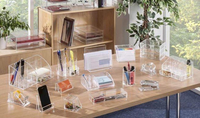 Organmizadores de escritorio de metacrilato
