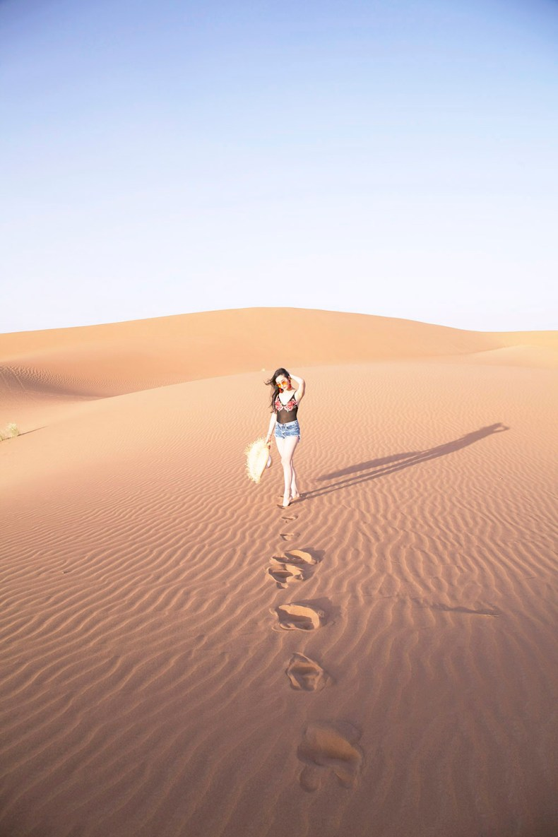 Tina Travels Sunset In The Sahara Desert Of Leather And