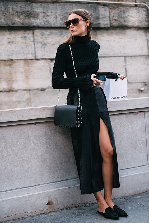 How To Wear Mules This Fall   Of Leather and Lace - A Fashion Blog by Tina Lee   Mule Outfits, Mule shoes, Mule heels