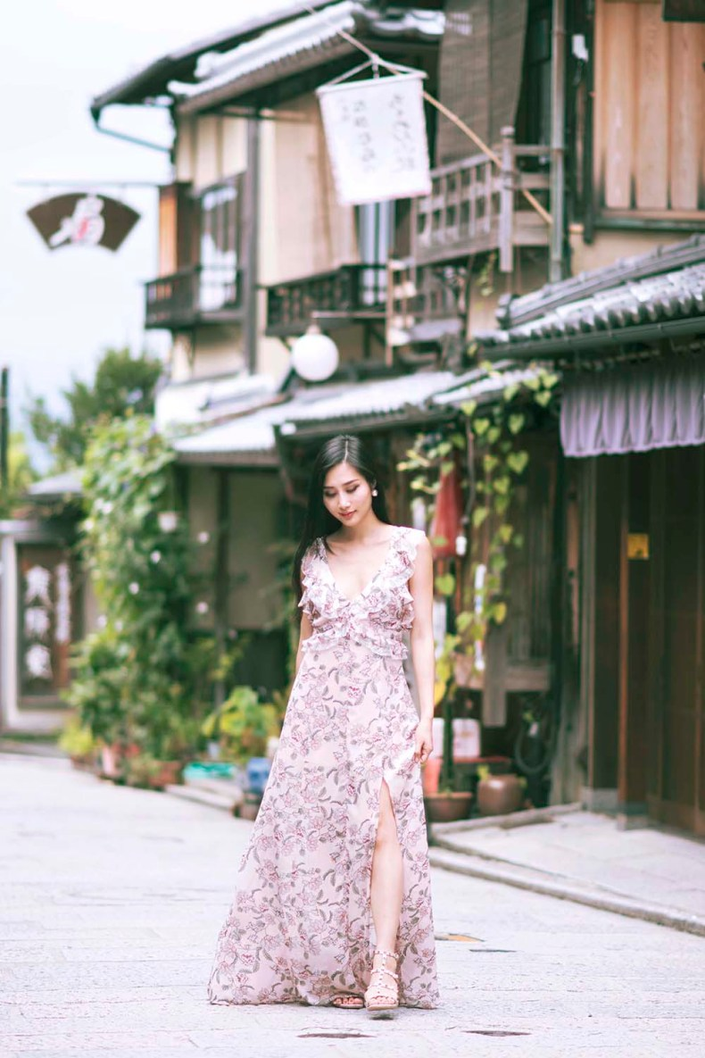 For Love and Lemons Floral Maxi Dress | Kyoto, Japan | Of Leather and Lace