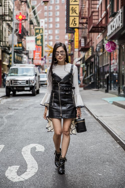 How to Layer Your Favorite Summer Pieces in the Fall | in NYC | Of Leather and Lace