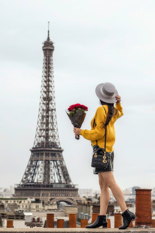 How to Wear Yellow in the Fall | in Paris, France | Of Leather and Lace