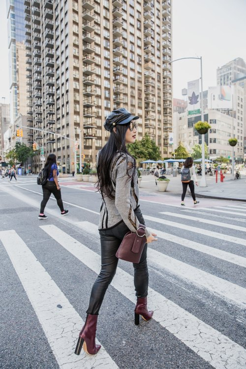 Burgundy Outfit Trends that Always Work   in NYC   Of Leather and Lace