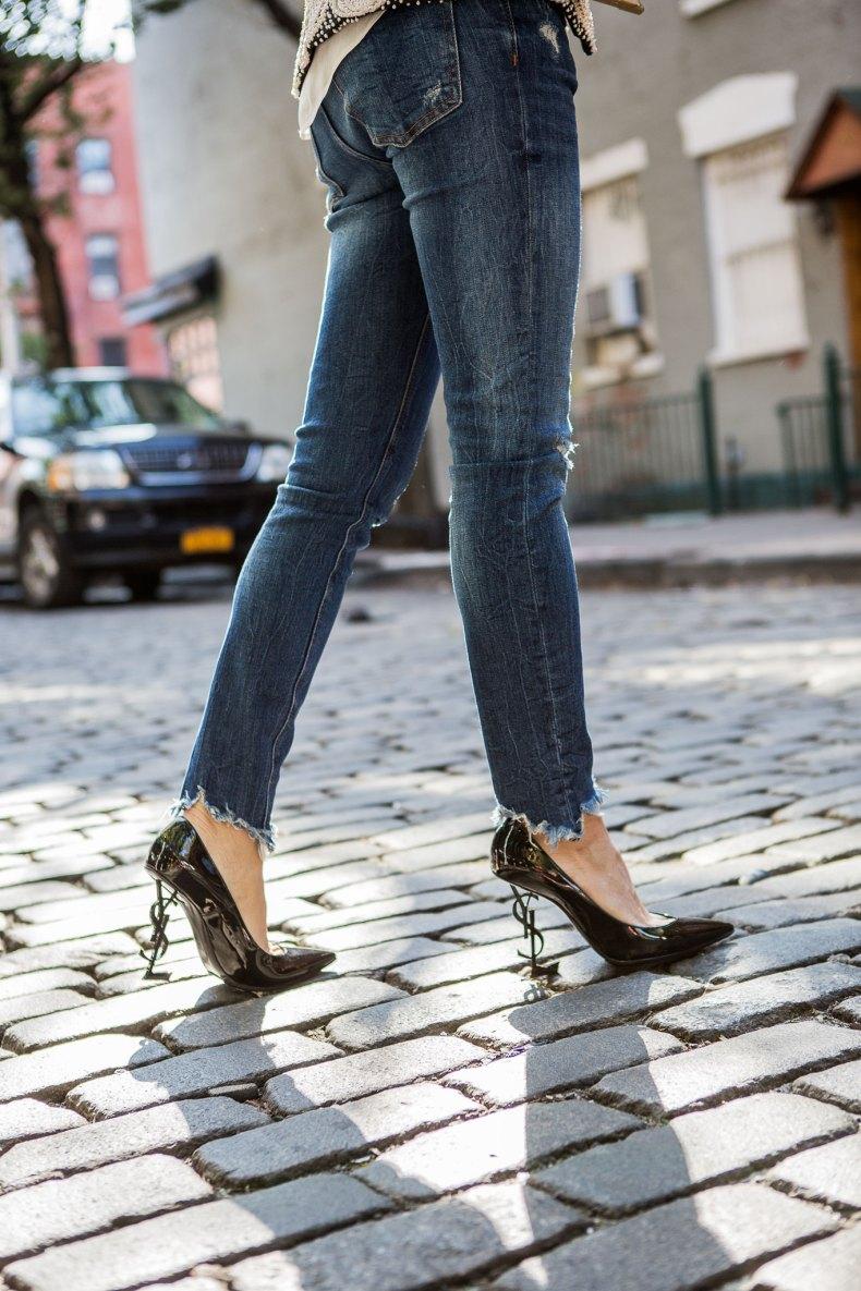 YSL Black Patent Heels   Ofleatherandlace.com