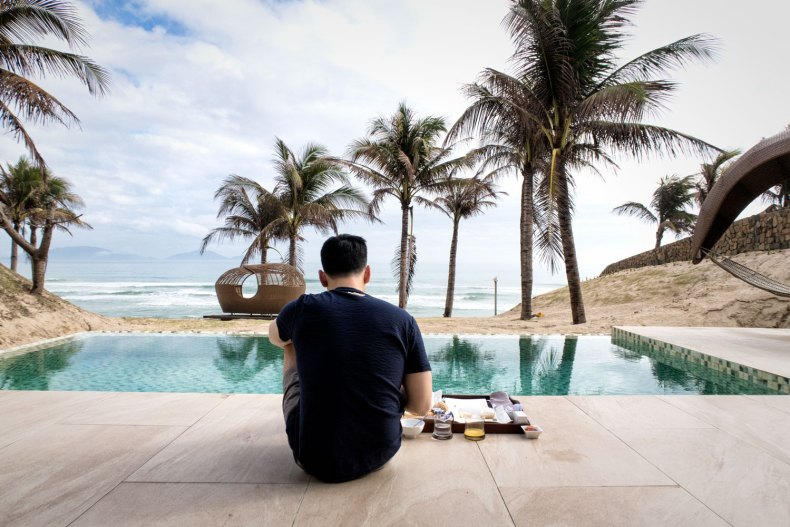Experience Southern Vietnam from a Beach Front Villa with Private Pool | Fusion Resort Cam Ranh Hotel Review | travel destinations, south east asia villas, beautiful villas, beach resort outfits #vietnam #beachresort #hotelreview #travelblog