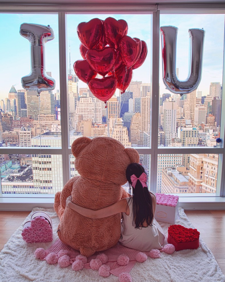 9 Days of Valentine - Day 6: Gifts That Bring Back Childhood Joy | Teddy Bear, Balloons, New york city view