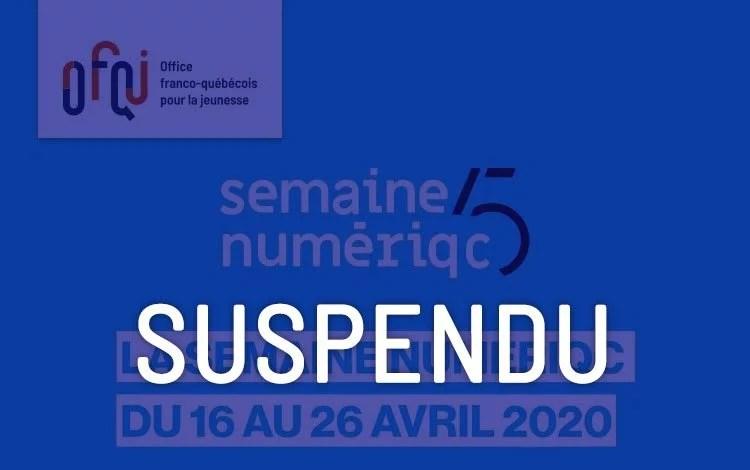 Semaine NumeriQC 2020 – suspendu