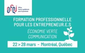 Formation Entrepreneurs économie verte
