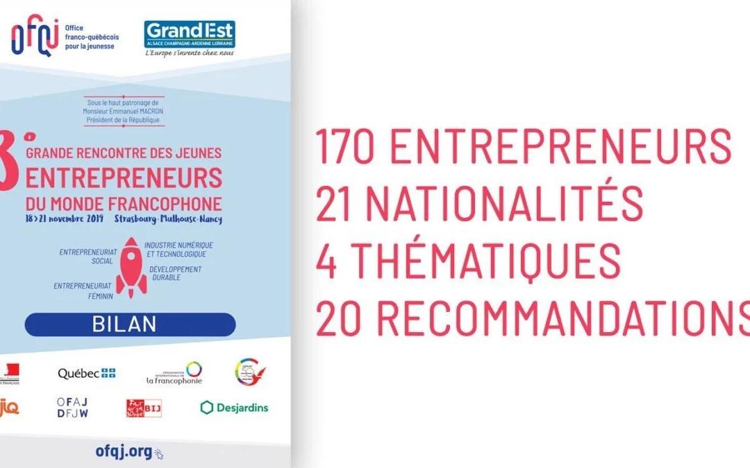 Bilan et recommandations de la 3e Grande Rencontre des jeunes entrepreneurs du monde francophone