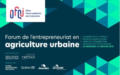 Forum sur l'entrepreneuriat en agriculture urbaine virtuel 2021