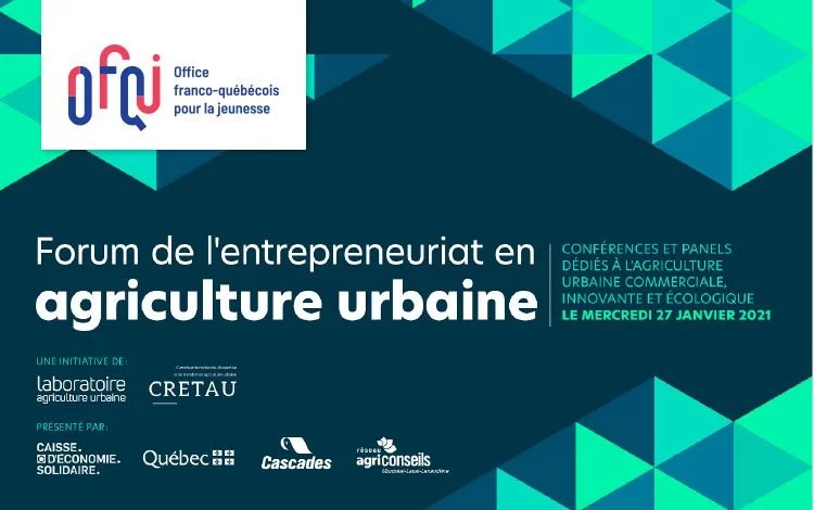 Forum sur l'entrepreneuriat en Agriculture urbaine 2021