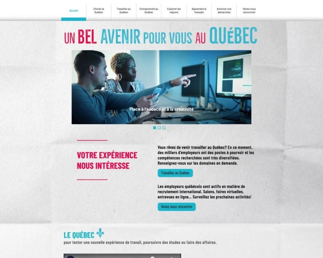 Un bel avenir pour vous au Québec