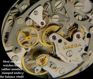 Omega Watch Movement Parts