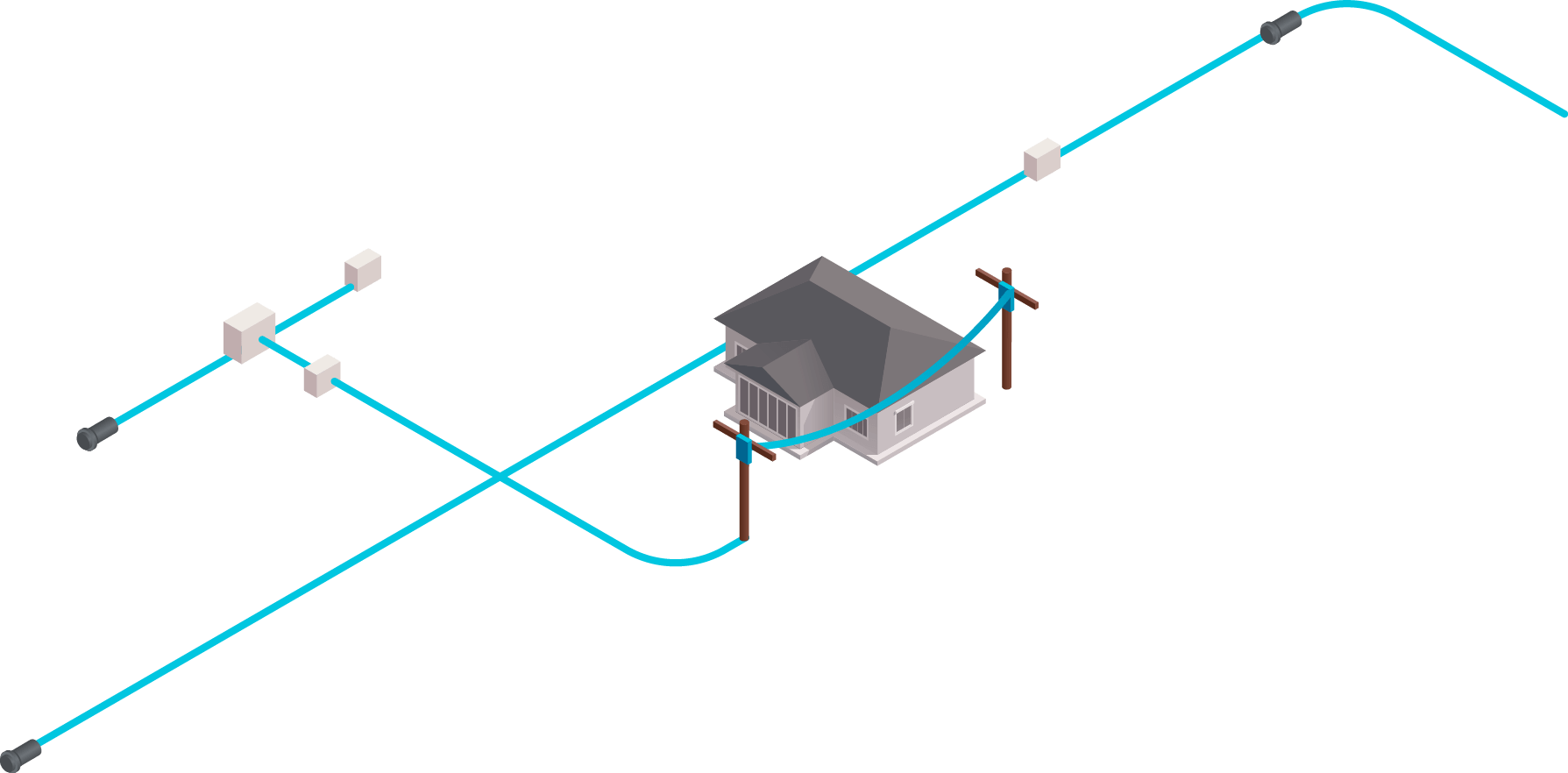 Ftth Fiber To The Home Fibero Optic Cables And Connectivity
