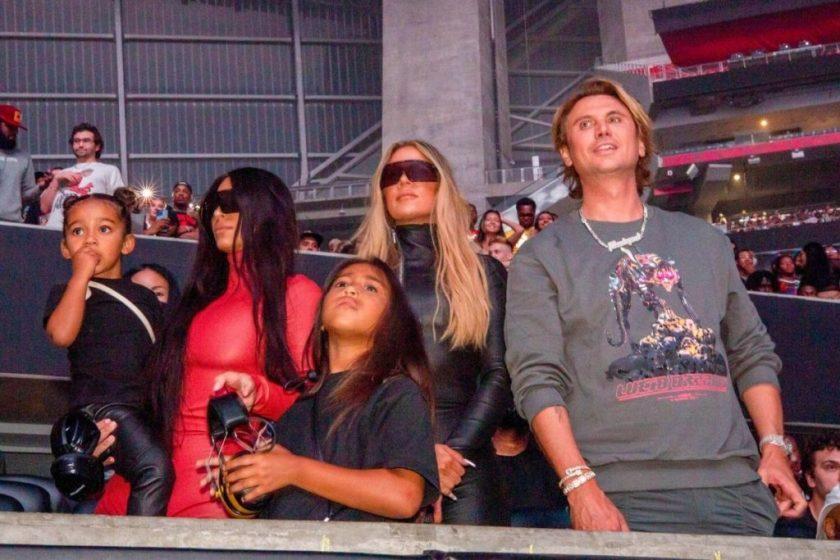 Psalm, Kim Kardashian, Khloe, CHicado and Jonathan Cheban, Kim's best friend