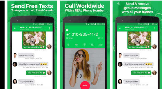 get usa phone number in nigeria with textplus app